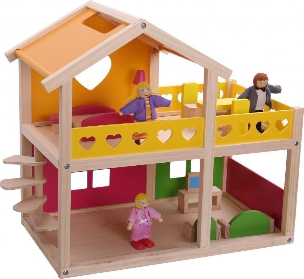 a6bd02ae37dc Tooky Toys Ξύλινο Σπιτι- Βιλα με Αξεσουαρ 206 855