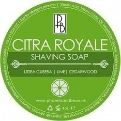 Phoenix And Beau Citra Royale Shaving Soap 115gr