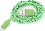 Omega Braided USB to Lightning Cable Πράσινο 1m (OM42307)