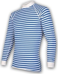 Sensor Double Face LS Tee Blue / White Stripes