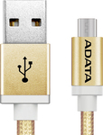 Adata Braided USB 2.0 to micro USB Cable Κίτρινο 1m (AMUCAL-100CMK-CGD)