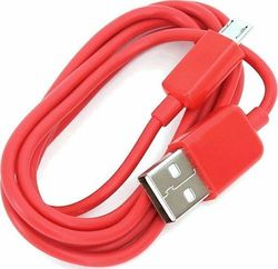Omega Regular USB 2.0 to micro USB Cable Κόκκινο 1m (OUCR)