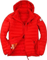 Body Action Slim Fit Zip Up Hooded Jacket 073613-Red