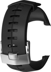Suunto Suunto DX black silicone with silver buckle strap kit