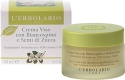 L' Erbolario Night Cream with Hawthorn and Pumpkin Seeds for Oily Skin 50ml
