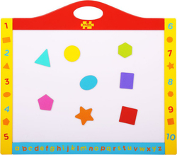 Big Jigs Magnetic Whiteboard and Blackboard with Shapes