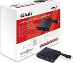 CLUB 3D USB-C male - RJ-45/USB-A/USB-C female (CSV-1530)
