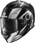 Shark Spartan Carbon Bionic Carbon Black White