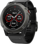 Garmin Fenix 5X Sapphire (Slate Gray with Black Band)