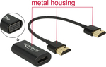 DeLock HDMI male - VGA female (65667)