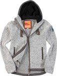 Body Action Zip Hoodie 073607-Grey Mel