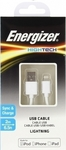 Energizer Regular USB to Lightning Cable Λευκό 2m (C11UBLIKWH4)