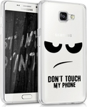 KW Back Cover Σιλικόνης Don't touch my phone Διάφανο (Galaxy A5 2016)