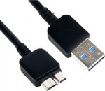 iSelf Regular USB 3.0 to micro USB Cable Μαύρο 1m (ISCABLENOTE3)