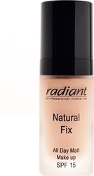 Radiant Natural Fix All Day Matt Matte Up SPF 15 02 Caramel 30ml
