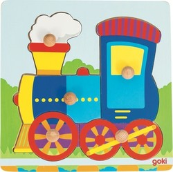 Peg Puzzle Train 5pcs (57514) Goki