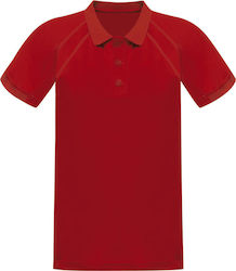 Unisex Μπλούζα Polo Coolweave Regatta Standout TRS147 - Classic Red