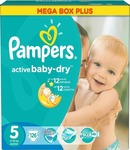 Pampers Active Baby Dry Mega Box Plus No5 (11-18kg) 126 τμχ