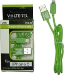 Volte-Tel Regular USB to Lightning Cable Πράσινο 1m (42668)