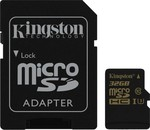 Kingston Gold microSDHC 32GB U3 with Adapter