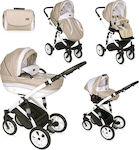Lorelli Bertoni Mia 3 in 1 with Air Wheels Beige/White