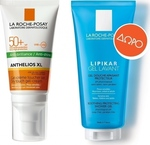 La Roche Posay Anthelios Anti-Shine XL SPF50+ 50ml & Lipikar Gel Lavant 100ml