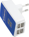 Polaroid 4x USB Wall Adapter Μπλε (98215)
