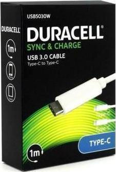 Duracell Regular USB 3.0 Cable USB-C male - USB-C male 1m (USB5030W)