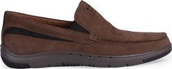 Clarks UNMASLOW EASY BROWN TUMBLED NUBUCK ΚΑΦΕ