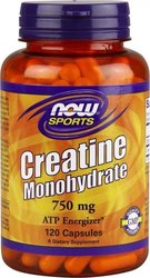 Now Foods Creatine Monohydrate 750mg 120 κάψουλες