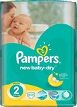 Pampers New Baby Dry No2 (3-6Kg) 68 τμχ