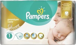 Pampers Premium Care No 1 (2-5kg) 41 τμχ