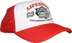 WAXX LIFEGUARD TRUCKER CAP RED