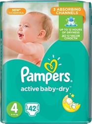 Pampers Active Baby Dry No4 (8-14Kg) 42 τμχ