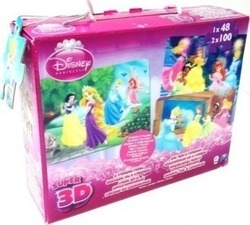 3 Παζλ 3D Disney Princess 148pcs (300000) Giochi Preziosi