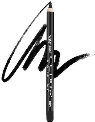 Elixir Make-Up Waterproof Eye Pencil 001 Black Diamond