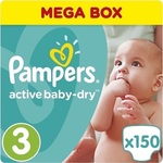Pampers Active Baby Dry Mega Box No3 (5-9kg) 2*150τμχ