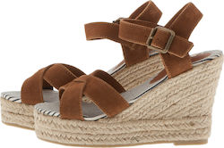 SUPERDRY D2 ISABELLA ESPADRILLE WEDGE SHOES - SDSH0GF1008SOF100-20O BROWN