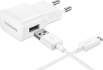 Samsung 1x USB Cable & Wall Adapter Λευκό (ETA-U90EWE + ECB-DU4EWE) (Retail)