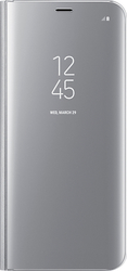 Samsung Clear View Standing Cover Silver (Galaxy S8+)