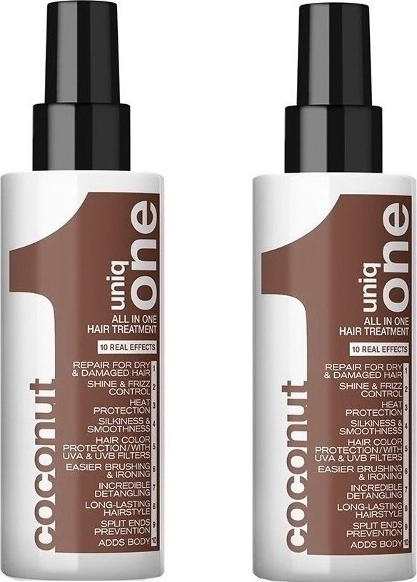 Προσθήκη στα αγαπημένα menu Revlon Uniq All In One Hair Treatment Coconut  2x150ml 2e5c0e9672e