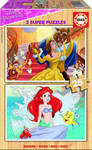 Disney Princess 2 Ξύλινα Παζλ 2x25pcs (17164) Educa