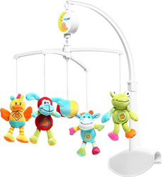 Babyono Musical Mobile Rainbow Animals