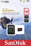 Sandisk Extreme Action microSDXC 128GB U3 V30 A1 with Adapter