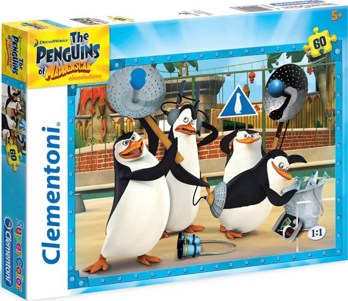 ... Super Color Οι Πιγκουίνοι Μαδαγασκάρης 60pcs (26943) Clementoni
