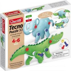 Quercetti Tecno Puzzle 3D: Elephant and Crocodile