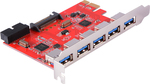 PCI-E to USB 3.0 5-Port Expansion Card with Internal 20Pin Connector PC (AC583)