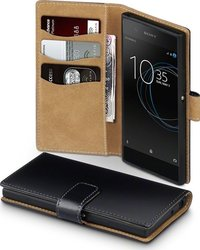 Terrapin Wallet Black with Tan Interior (Xperia XA1)