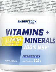 EnergyBody Systems Vitamins + Minerals 300gr Λεμόνι