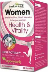Natures Aid Women's Multi-Vitamins & Minerals 60 κάψουλες